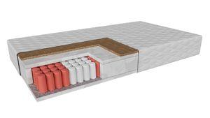 Multipocket-matratze twin Emilia (200x200cm) H4-H5 hart-sehr hart, Taschenmatratze mit Kokos im antiallergische Abdeckung