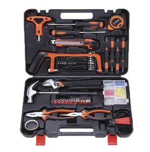 82 tlg Werkzeugkoffer bestückt Set Elektriker Schreiner Reparatur Werkzeug Satz Werkzeugkasten Werkzeugkiste