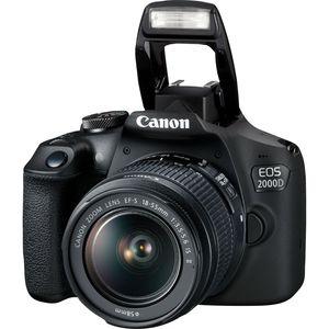 Canon EOS 2000D + EF-S 18-55mm f/3.5-5.6 IS II + EF 75-300mm f/4-5.6 III, 24,1 MP, 6000 x 4000 Pixel, CMOS, Full HD, 475 g, Schwarz