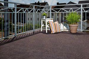 Kunstrasen Rasenteppich 200 x 100 cm Braun Noppen Fertigrasen Balkon 10€/m² Meterware