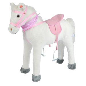"""Pink Papaya Stehpferd """"Molly"""" 75 cm Pony bis 100 kg belastbar mit Sound und Steigbügeln"""