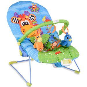 COSTWAY Babywippe Babywiege Schaukelwippe Schaukelsitz Babyschaukel Babysitz mit Vibrationsfunktion Musik  modell 1