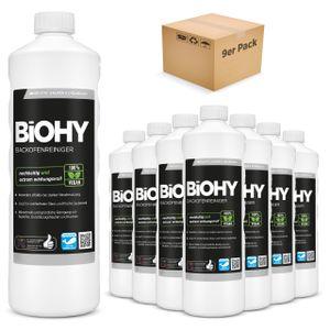 BiOHY Backofenreiniger Hochkonzentrat (9x1l Flasche) | Profi Grillreiniger, Fettlöser EXTRA STARK | Zur einfachen und schnellen Ofenreinigung | Löst hartnäckigste Verkrustungen