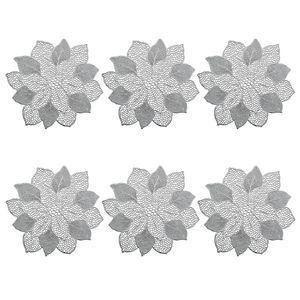 "Platzset ""Flower"", 6er Set, PVC, silber"