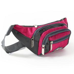 Bag Street Nylon Tasche Damenhandtasche Gürteltasche pink 33x14x10 OTJ507P