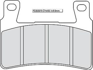 FERODO 588-079 sinter racing brake pad FDB 2079 XRAC No homologation. Not for u