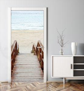 MyMAXXI | Tür verschönern mit Türtapete Selbstklebend 90x200 Treppe Strand | Türfolie Poster Tapete | Selbstklebende Türaufkleber XXL Aufkleber Folie| Türposter Mädchen und Junge
