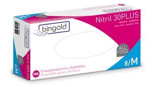 BINGOLD Nitril 30PLUS weiß,puderfrei, AQL 1,5, VE 100 Stück - Größe M