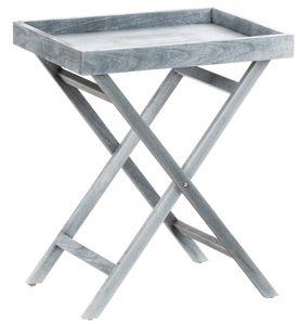 CLP Beistelltisch Simone mit Tablett Holz, Farbe:grau