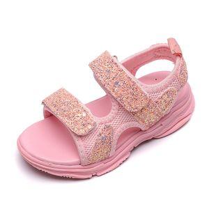 Kinder Baby Mädchen Jungen Mädchen Mesh Bling Pailletten Sport Sneakers Sandalen Schuhe Größe:23,Farbe:Rosa