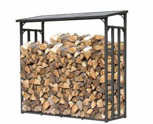 Grasekamp Kaminholzunterstand 130 x 60 x 150 cm  Stegplatten Kaminholzregal Kamin  Holzofen Regal