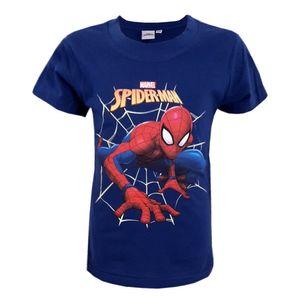 Marvel Spiderman T-Shirt Kurzarm Kinder Jungen Shirt Blau Gr. 92/98