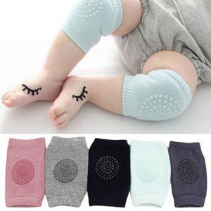 5 Paar Baby-Knieschützer,Baby Knieschoner Krabbelhilfe mit Gummipunkte anti-Rutsch  rutschfeste, reine Schwammbeinbezüge mit Frottee