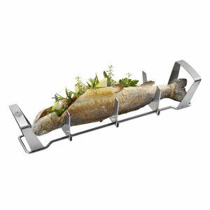 GEFU 893-31 Fischhalter BBQ, silber