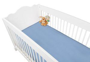 Frottee-Spannbetttücher für Kinderbetten im Doppelpack, hellblau