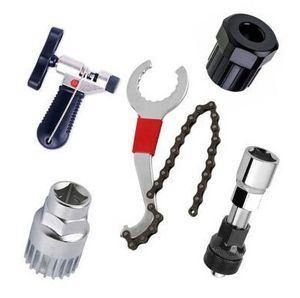 5 in 1 Fahrrad Werkzeug Kettenpeitsche Zahnkranzabzieher Kassettenabzieher Reparatur Kurbel-Abzieher Kit Set