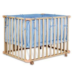 dibea Babybett, Gitterbett, Laufstall, mobiles Kinderbett, Farbe blau