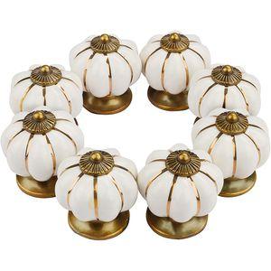 8X Möbelknöpfe Schrankgriffe Küchengriffe Schubladengriff Möbelknopf Porzellan Vintage Keramik Möbelknöpfe Keramik M4 22mm Weiß