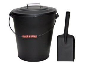 MUSTANG Ascheeimer 11 Liter mit Deckel,Tragebügel und Ascheschaufel