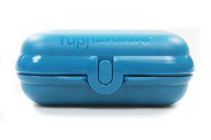 TUPPERWARE To Go Twin dunkles türkis Brotdose Lunchbox Twin Größe 2 + SPÜLTUCH