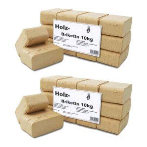 THERMOSPAN Holz-Briketts eckig 10,0 kg 2er Set