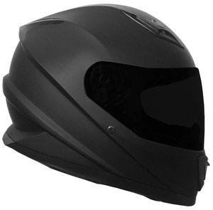 Integralhelm 62 Helm Rollerhelm Motorradhelm Sturzhelm matt schwarz Gr. L Visier klar + schwarz getönt