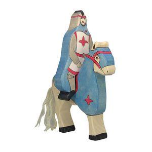 Blauer Ritter mit Mantel, reitend,per St