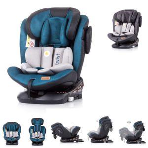 Chipolino Kindersitz Twist 0-36 kg Gruppe 0+/1/2/3, Isofix, drehbar, Top Tether blau