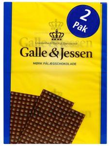 Galle & Jessen Mørk Pålægschokolade (Zartbitter) 2x108g