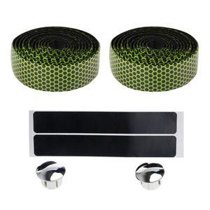 Rennrad Lenkerband Fahrradgriffverpackungen mit Endstopfen und Gelb Lenkergriffband 9 x 9 x 3 cm