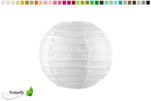 1 Lampion 10cm , Farbauswahl:weiß 029
