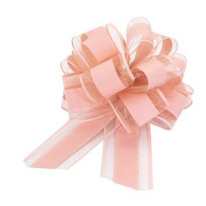 Oblique Unique Geschenkschleife Deko Schleife für Geschenke Tüten Zuckertüte Weihnachten Geschenkdeko - rosa