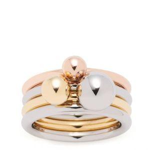 Leonardo Set/3 Ring 19 Sfera Silber Gold Rosegold