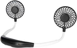 ONVAYA® Nackenventilator schwarz und weiß   Tragbarer Mini Ventilator zum Umhängen für unterwegs   USB Ventilator