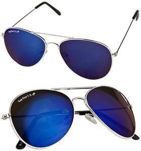 AVIATOR FLIEGER PILOTENBRILLE Blau verspiegelte Brille