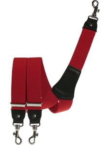 Extra starker Hosenträger mit Karabinerhaken, Größen:120 cm, Farben:rot