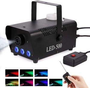 Nebelmaschine,  Rauchmaschine mit 13 farbigen LED Lichtern und RGB Effekt, 500W und 2000CFM