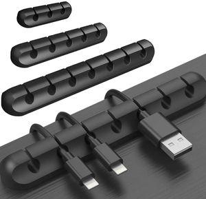 3 Pack Desktop Kabelhalter 15 Kanal Kabel Management System Kabel Clip Kabelmanager für Computer, USB-Kabel, ZuhauseBüro