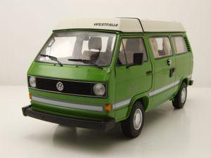 VW T3 a Bus Westfalia Joker Camping mit Faltdach 1979 - 1992 grün weiß Modellauto 1:18 Schuco