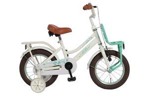 16 Zoll Mädchen Kinder Holland Fahrrad Kinderfahrrad Mädchenrad Hollandrad Kinderrad Mädchenfahrrad Bike Rad Rücktrittbremse Frontträger Stützräder Altec Tuana Weiß GRÜN