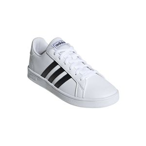 Adidas Kinder Sneaker  Synthetikkombination weiss 37