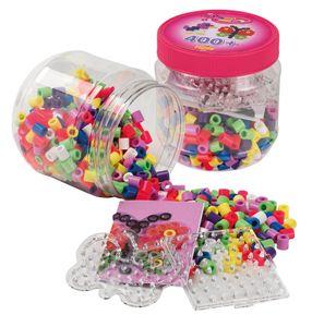 Hama Bügelperlen maxi + Stiftplatten in Kunststoffdose Schmetterling 400 Perlen