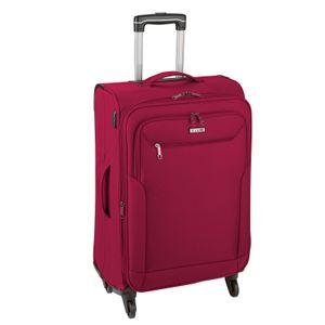 d&n Travel Line 6804 Reisekoffer Trolley 76 cm, erweiterbar,  4 x 360°-Rollen, Volumen 98 l, Farbe Rot