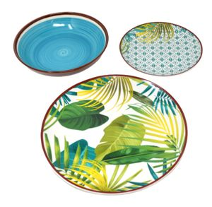 Tognana Tafelservice Jungle, Porzellan, mehrfarbig, 18-teilig Geschirr