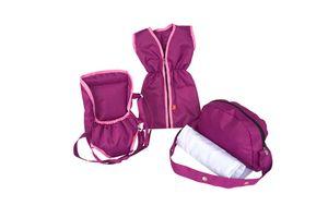 Knorrtoys Puppenzubehörset - pink purple