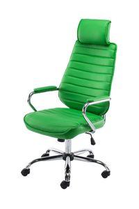 CLP Bürostuhl Rako mit Wippmechanismus und Leichtlaufrollen, Farbe:grün
