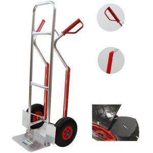 Alu-Sackkarre  PolyurethanRad  mit Treppenrutsche Treppensteiger 200 kg Stapelkarre Transportkarre