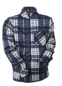 Herren Holzfäller Fleece Jacke kariert Thermo Flanell Hemd Arbeitsjacke warm, Größe:L