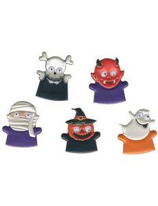 Lustige Grusel-Fingerpuppen Halloween-Partydeko für Kinder 5 Stück bunt