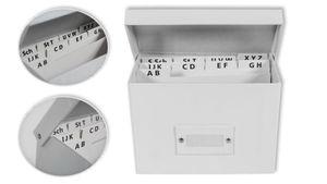 Lernbox / Karteikasten / DIN A6 / incl. Register / Farbe:weiß
